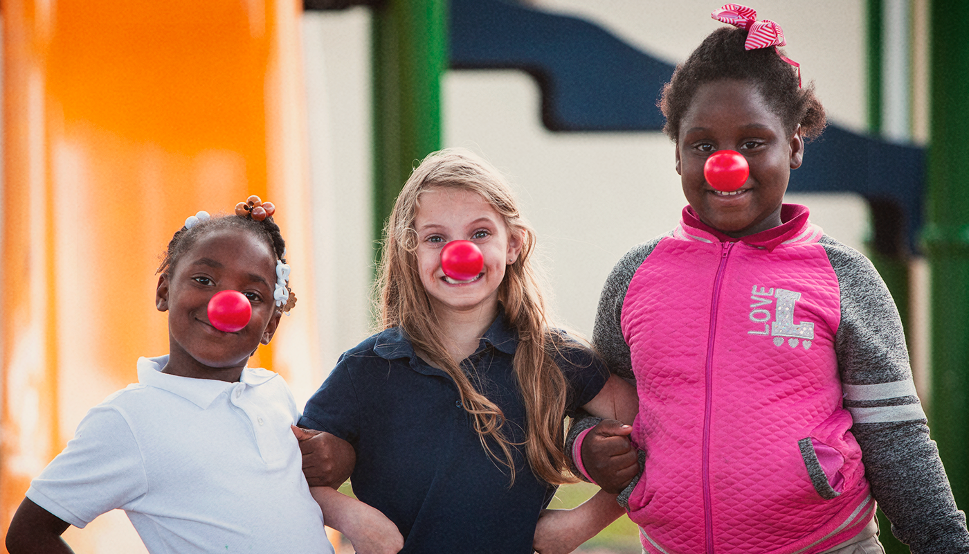 Photo of children helped by Red Nose Day